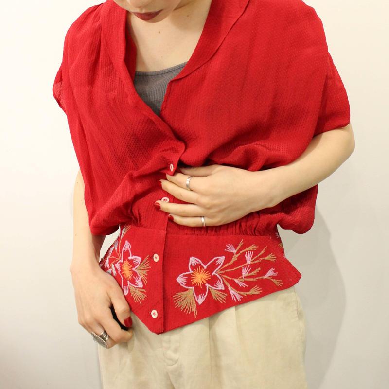 刺繍 gather  blouse