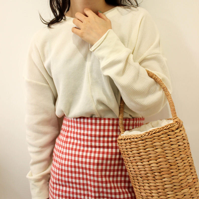 gingham check skirt
