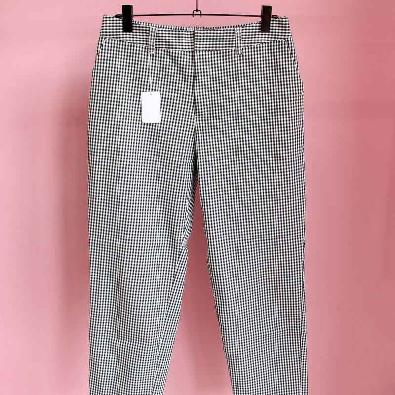 gingham check pants