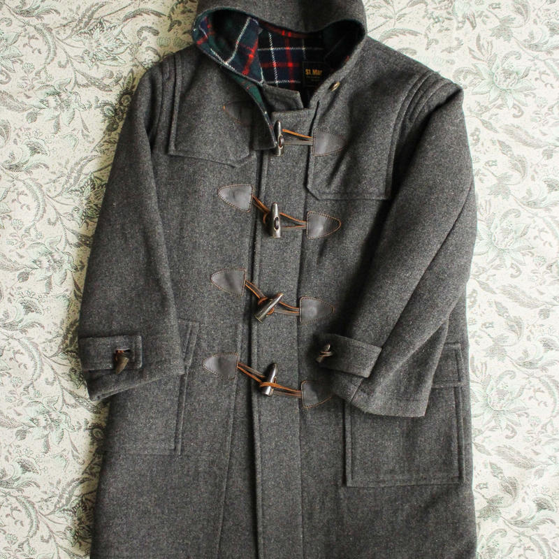 check duffle coat