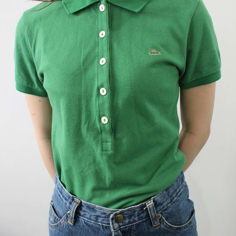 【lacoste】green polo shirt