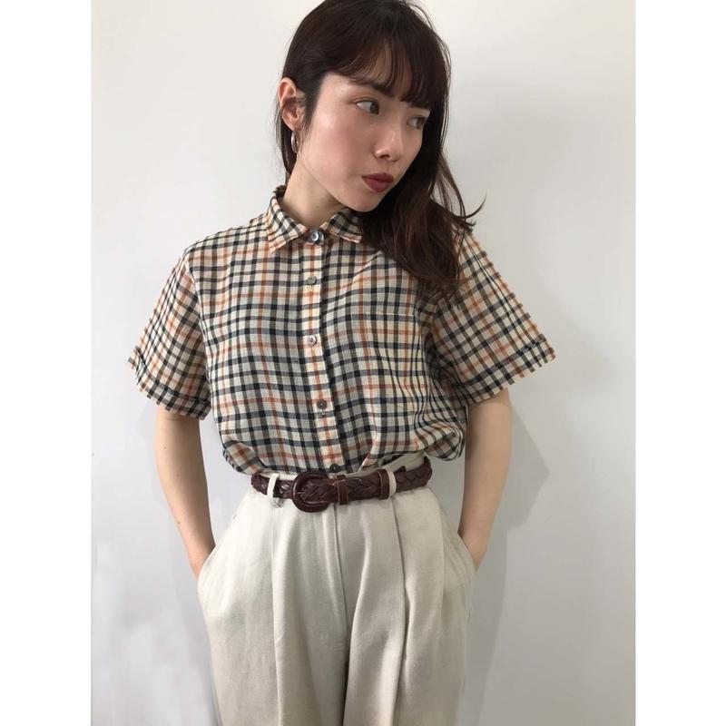 【DAKS】check shirt