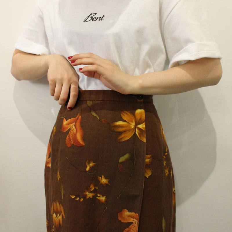 Flower pattern long skirt