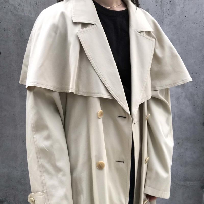 Cape trench coat