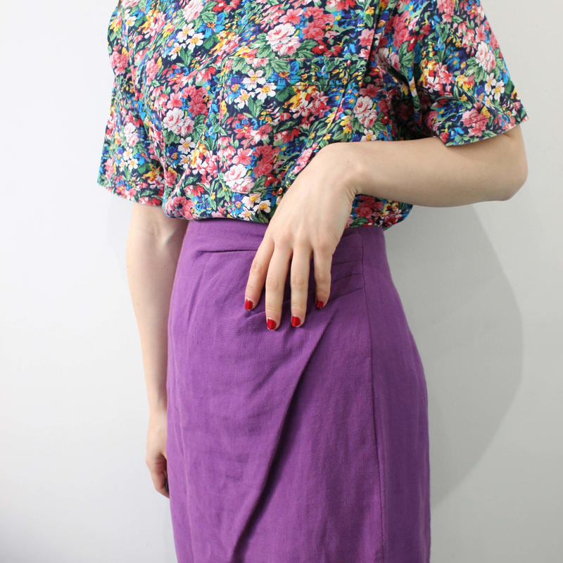 madeinitaly purple skirt