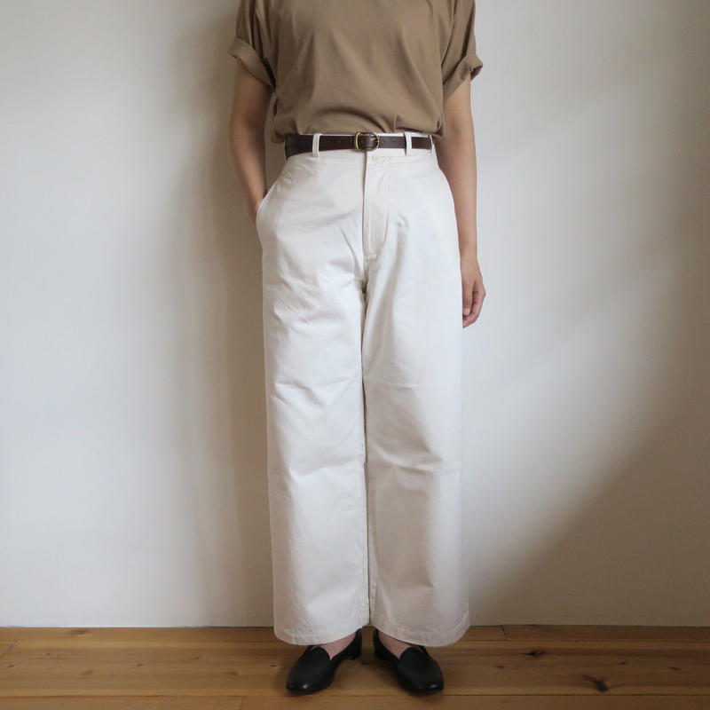 YAECA WOMEN CHINO CLOTH PANTS ワイドストレート 3colors 69602