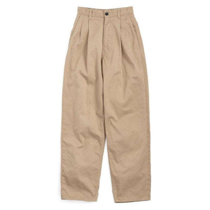 Graphpaper MEN Chino Two Tuck Pants BEIGE GU192-40048