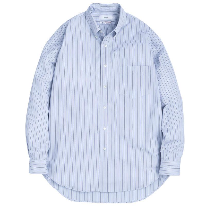 Graphpaper MEN Thomas Mason L/S B.D Shirt GRAY STRIPE GM191-50033B
