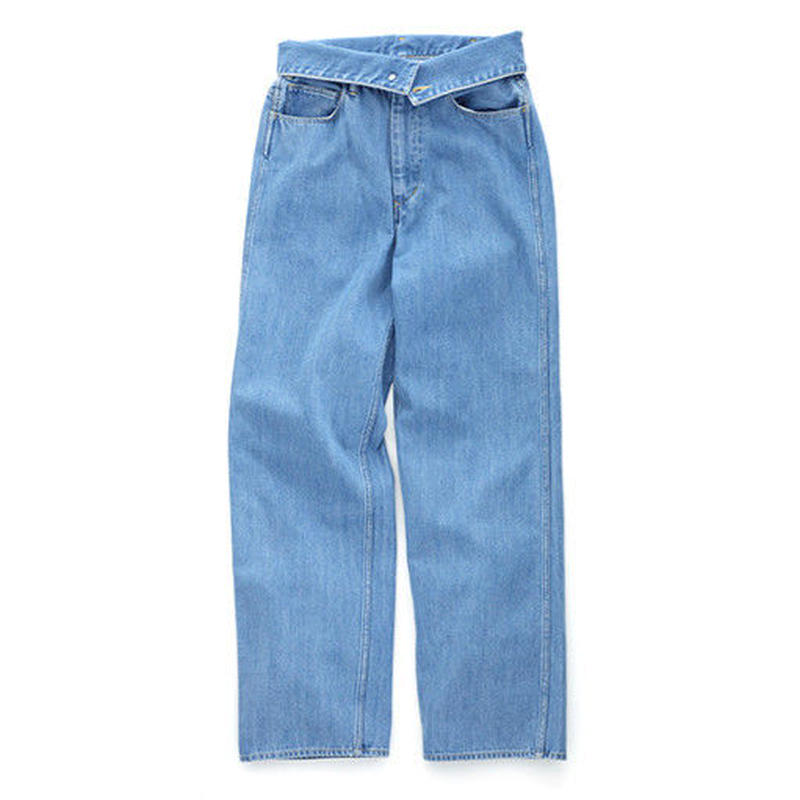 Graphpaper WOMEN TurnOver Washed Denim Pant Bleach