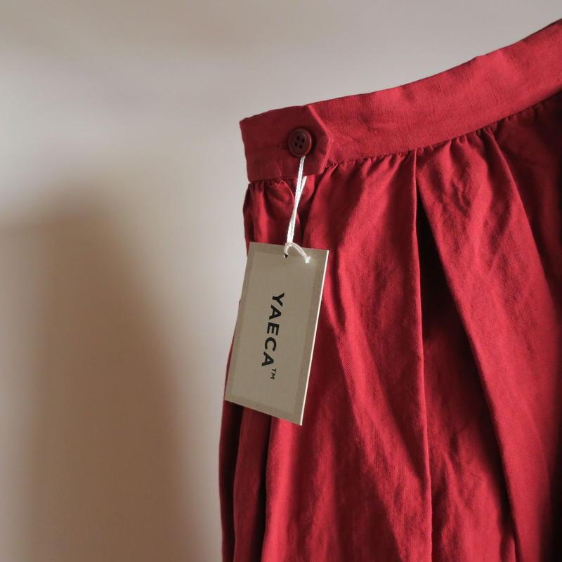 YAECA WRITE WOMEN タックスカート RED 98662