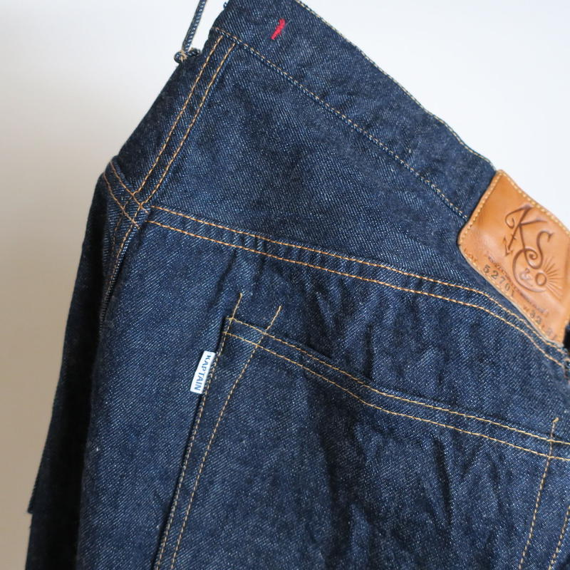 KAPTAIN SUNSHINE Baggy Cut Straight Denim Pants