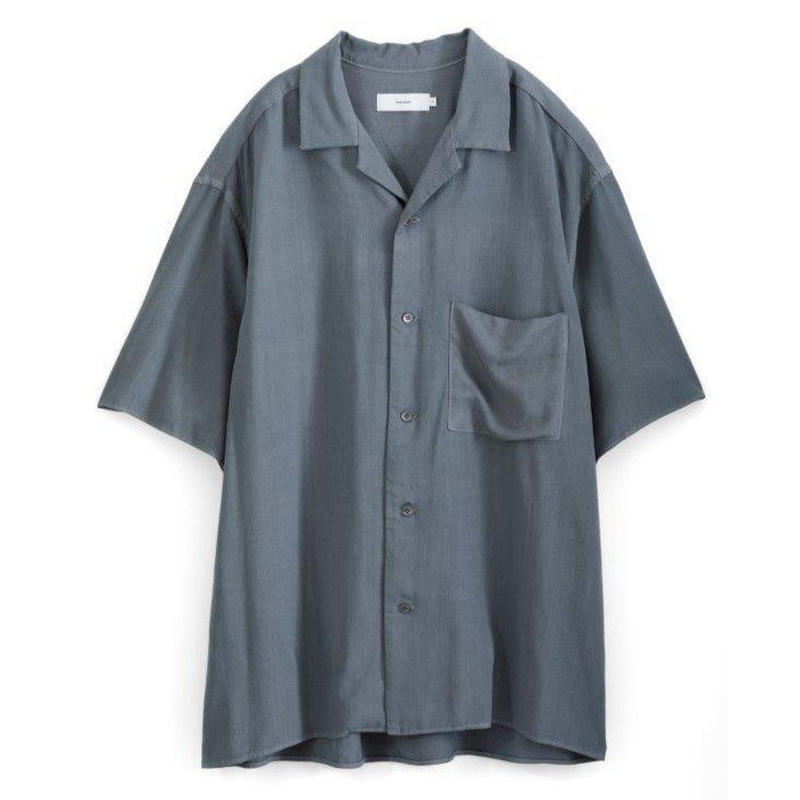 Graphpaper MEN Soft Cupro Open Collar Shirt GRAY GM191-50023