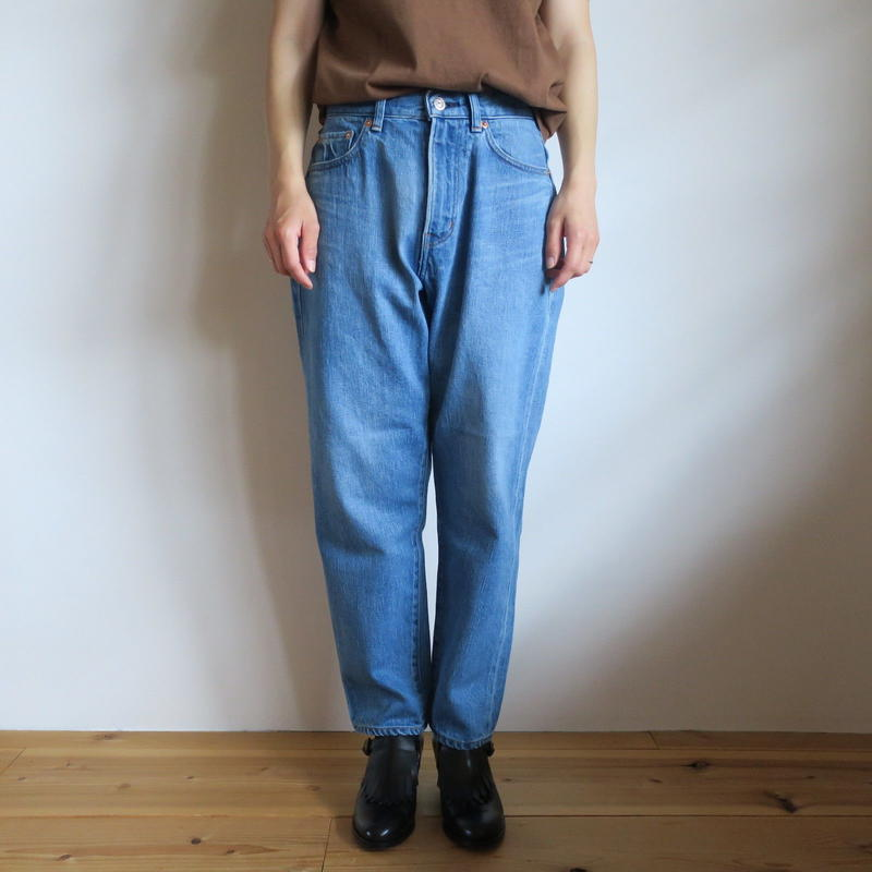 YAECA WOMEN クロップドテーパード 5-12U BLUE