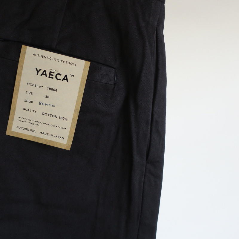 YAECA MEN CHINO CLOTH PANTS タックテーパード 19606   18603 3colors