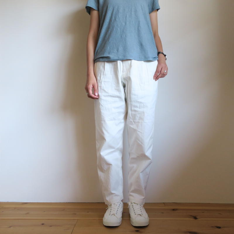 YAECA WOMEN CHINO CLOTH PANTS タックテーパード 5colors