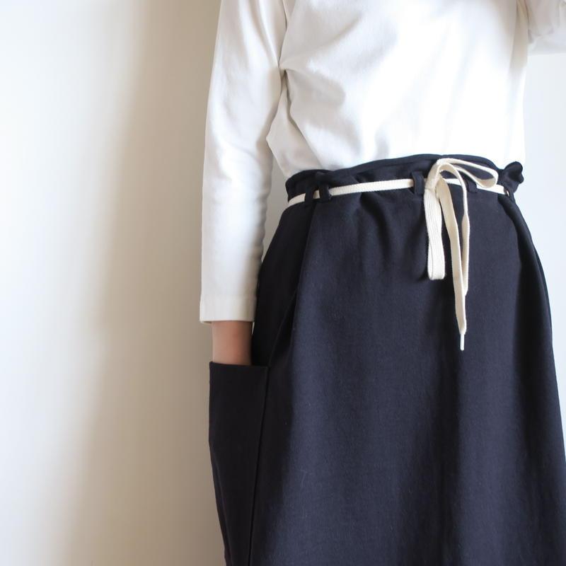 BATONER WOMEN 超度詰めメリヤススカート 2colors BN-19SL-020