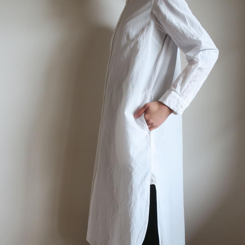 YAECA WRITE WOMEN ロング シャツ WHITE
