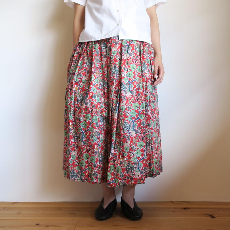 YAECA WOMEN タックキュロット LIBERTY doe a deer RED
