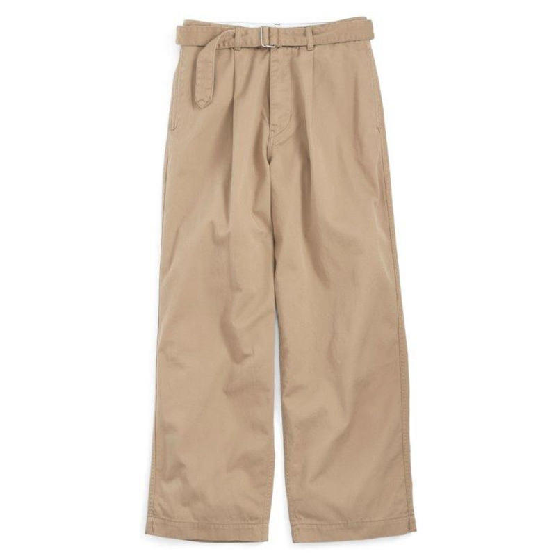 Graphpaper MEN Chino Belted Pants BEIGE GU192-40049