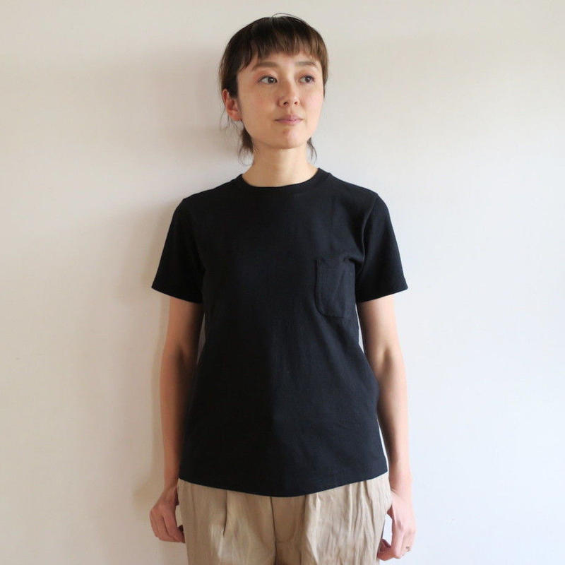 YAECA WOMEN 丸胴 CREW NECK ポケットTシャツ 170207