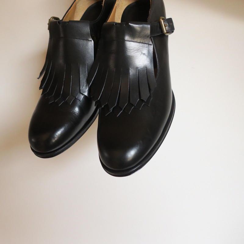 forme WOMEN fringe T strap heel shoes ff-96