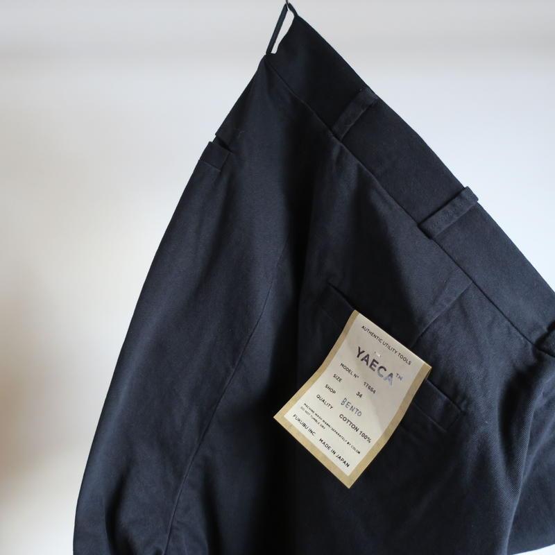 YAECA MEN CHINO CLOTH PANTS ワイドテーパード 2colors