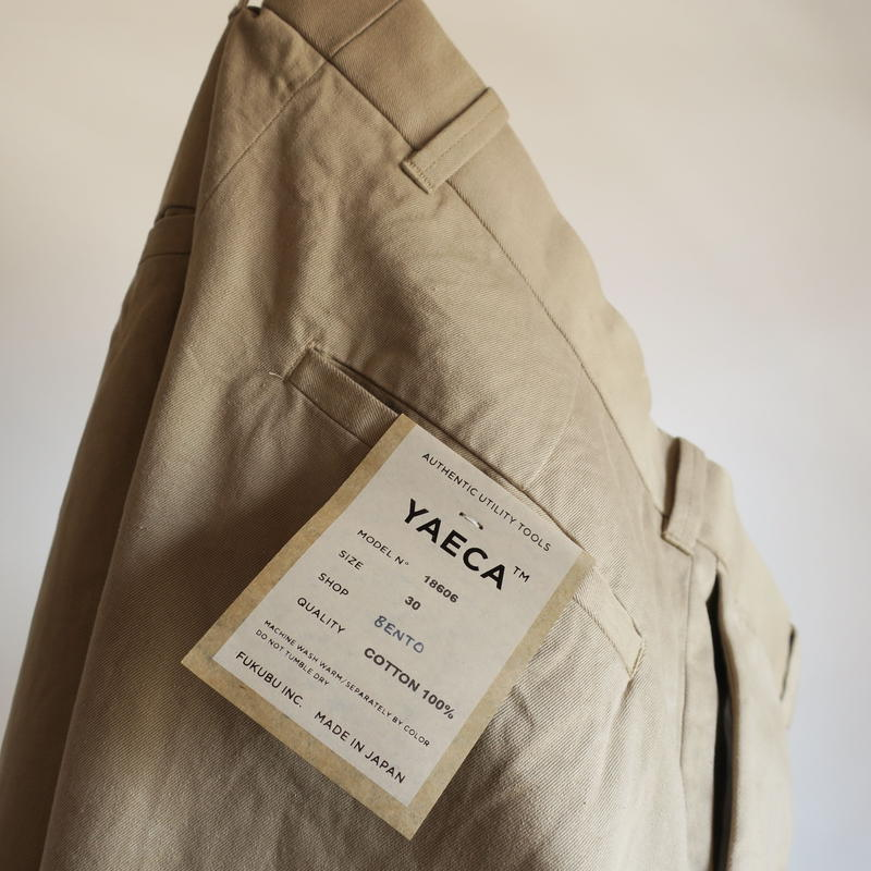 YAECA MEN CHINO CLOTH PANTS ナロー 3colors