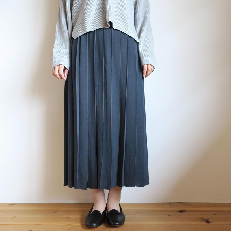 BATONER WOMEN フライスプリーツスカート 2colors BN-19SL-027