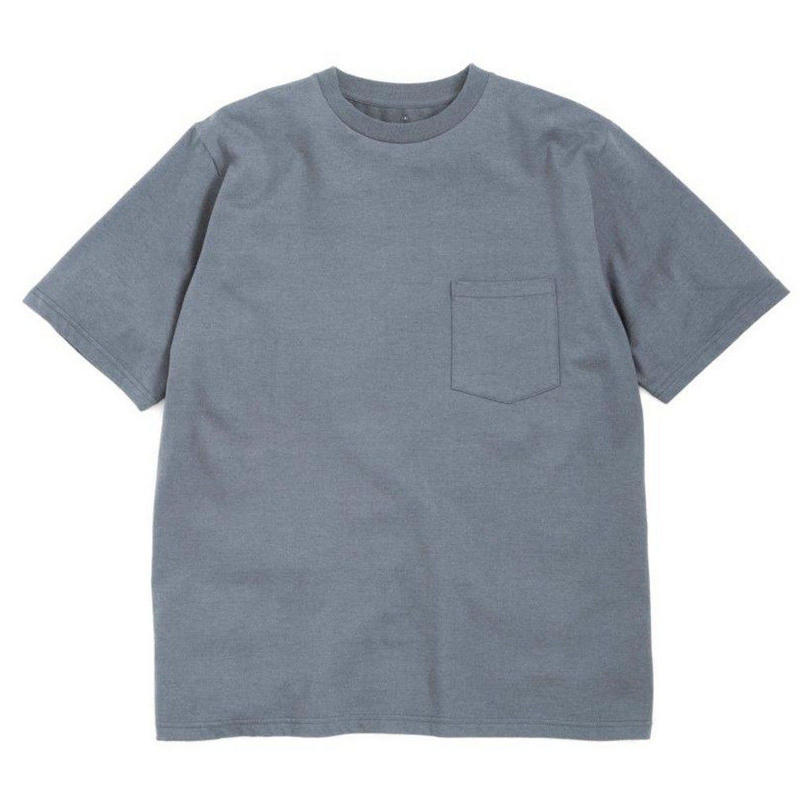 Graphpaper MEN S/S Pocket Tee C.GRAY GU191-70055GB