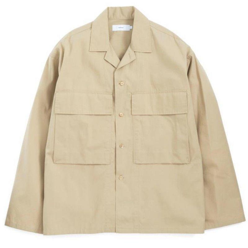Graphpaper MEN STEVENSONS Military Shirt 2colors GU191-50022