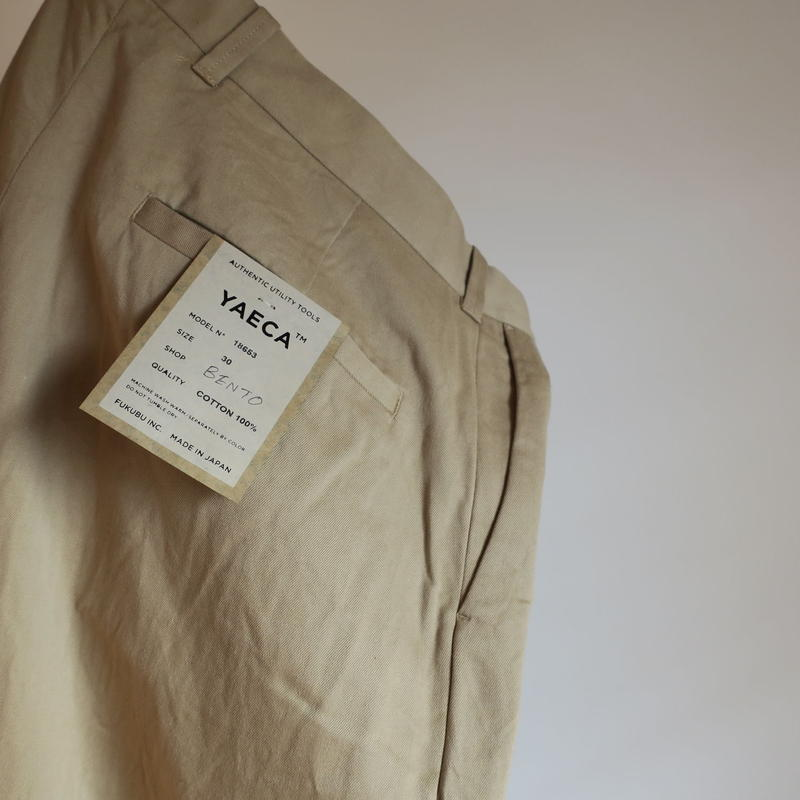 YAECA MEN CHINO CLOTH PANTS スタンダード 2colors