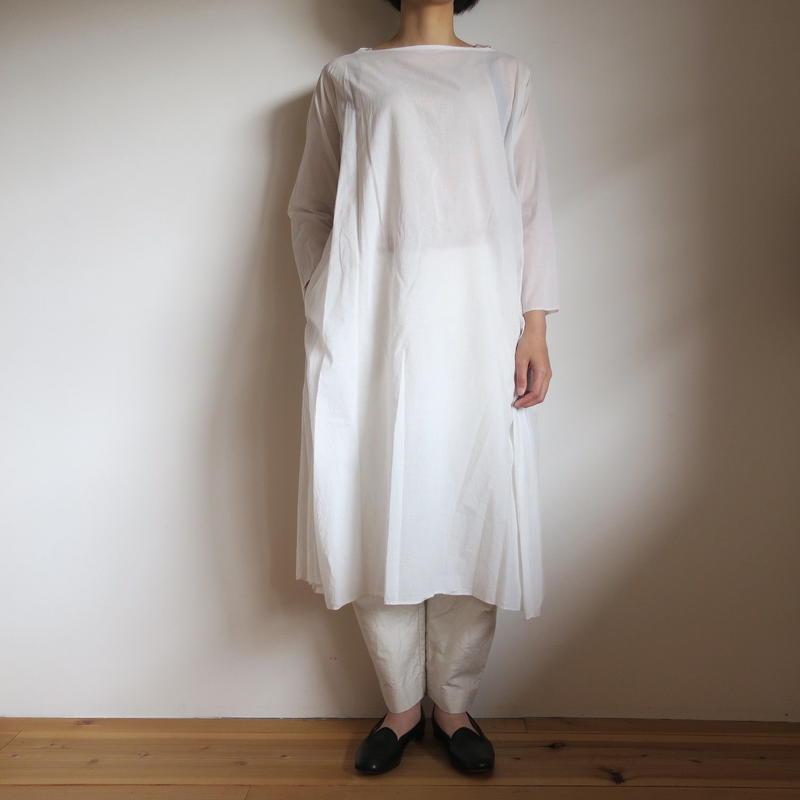 YAECA WOMEN フレアドレス ミディアム WHITE 69702