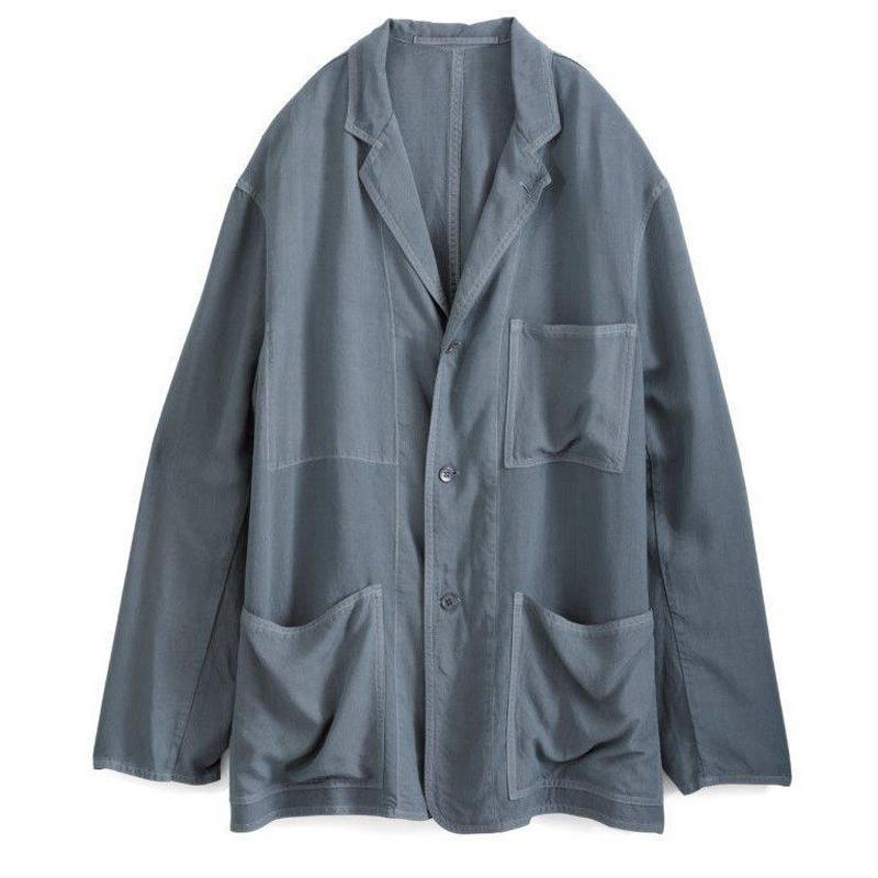 Graphpaper MEN Soft Cupro Jacket GRAY GM191-20006