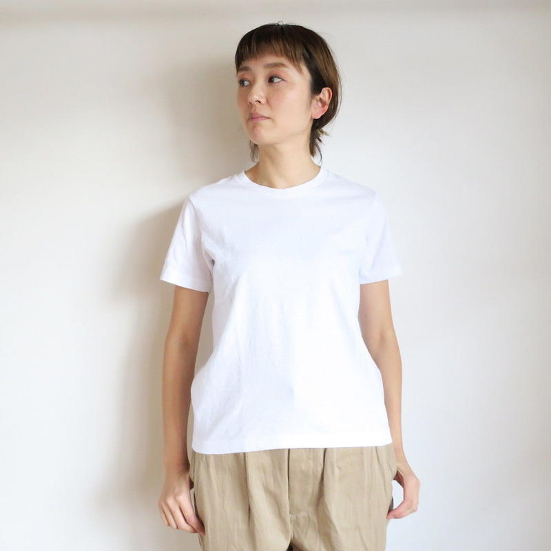 YAECA WOMEN 丸胴 V NECK Tシャツ 170209