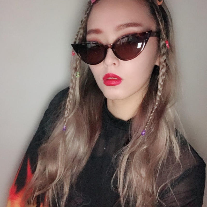 90'S CAT EYES  SUNGLASS  LEOPARD