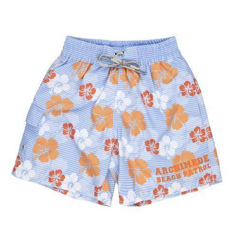 "Archimede ""HAWAII ORANGE DADDY BOXER SHORT"" パパ用水着"