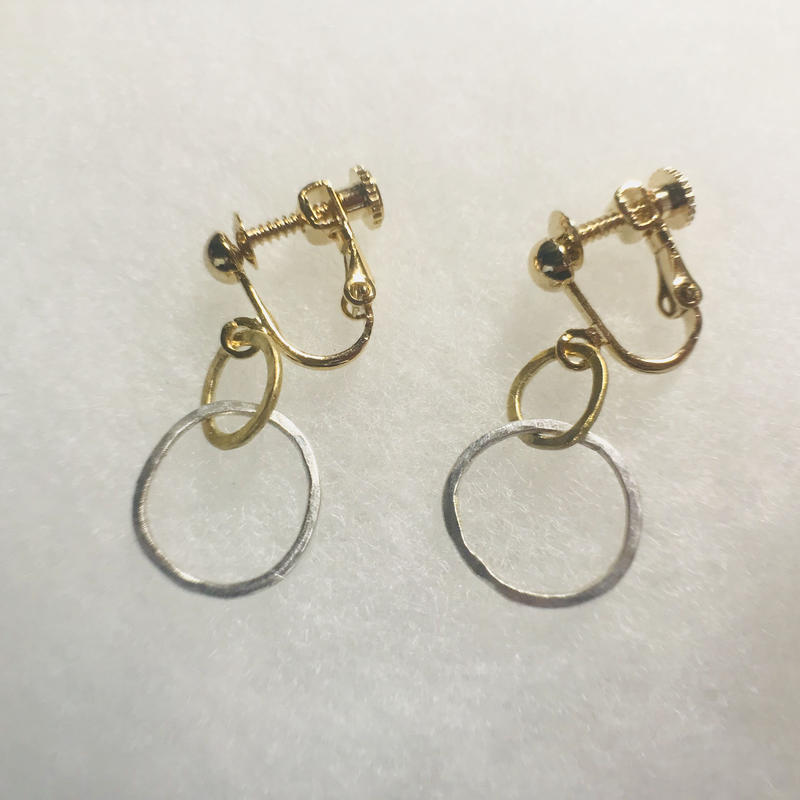 circle earring double [VE-021]