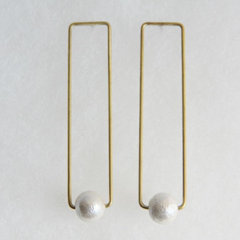 rectangle pearl pierce [VP-033w]