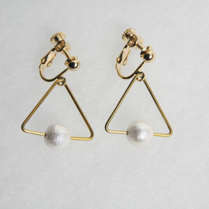 sankaku pearl earring [VE-001w]