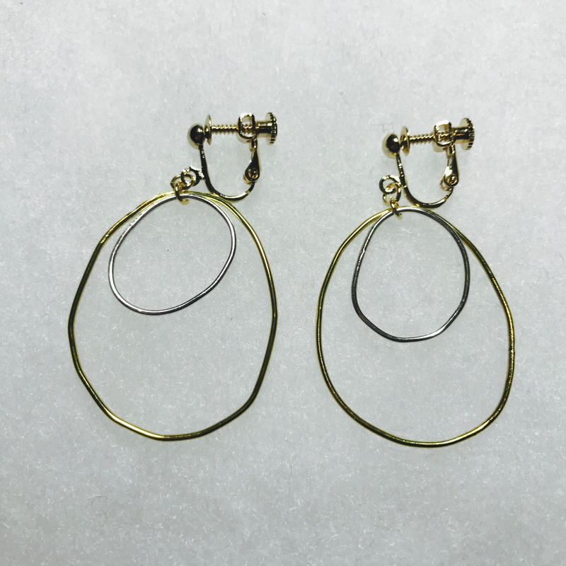 maru earring double L [VE-016]