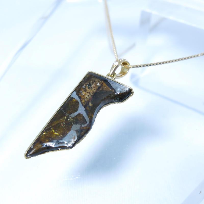 パラサイトイミラック隕石ダイヤK18 ペンダントトップ