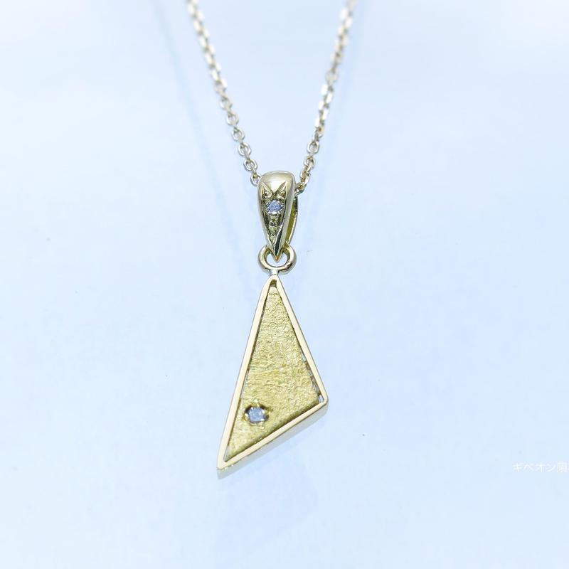ギベオン隕石&ダイヤモンドネックレス