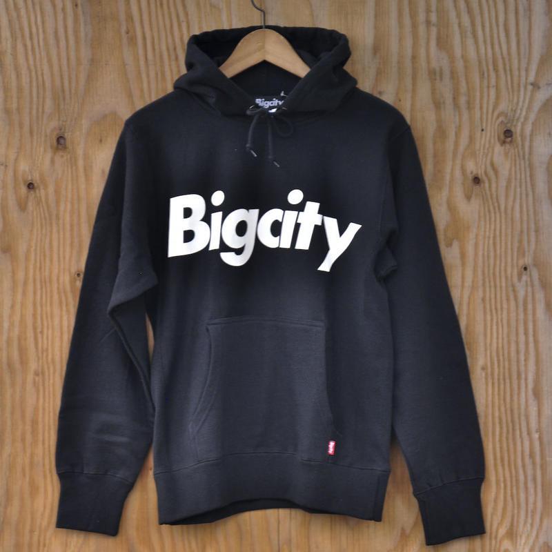 BIG LOGO 12オンス HOOD SWEAT  BLACK