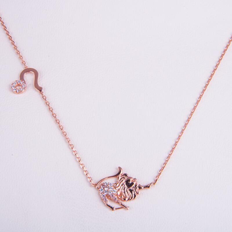 Rose Gold 925 Zodiac necklace  Leo /しし座
