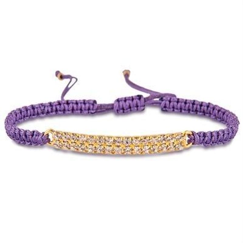 amorium Jewelry Thread bracelet / Purple