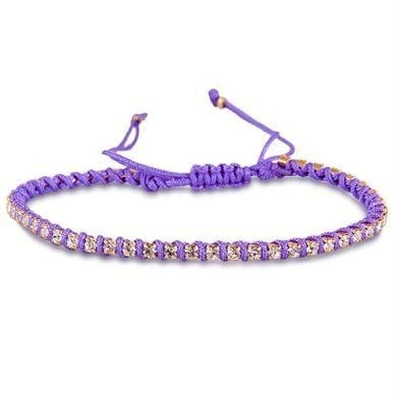 amorium Jewelry friendship bracelet/ Neon Hot Purple