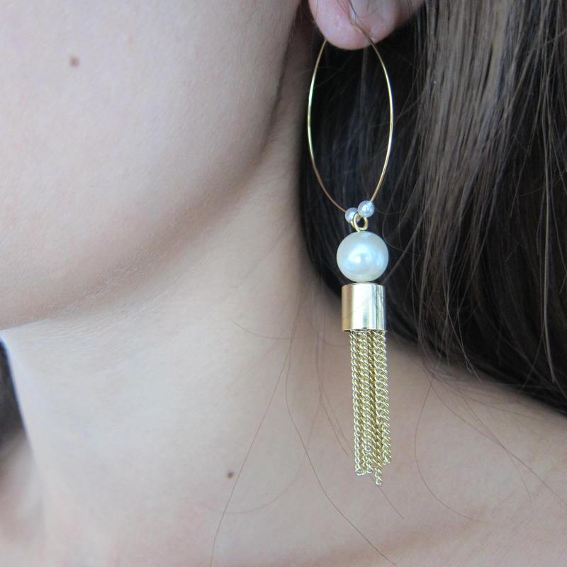 chain tassel hoop pierces