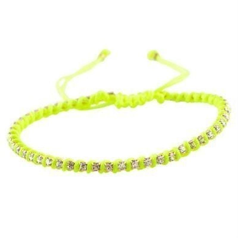 amorium Jewelry friendship bracelet/ Neon yellow