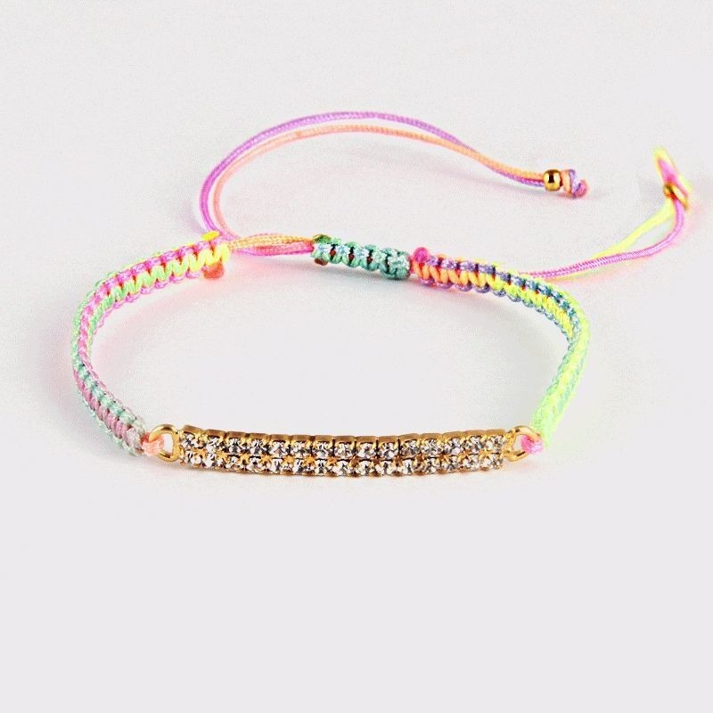 amorium Jewelry Thread bracelet / Rainbow