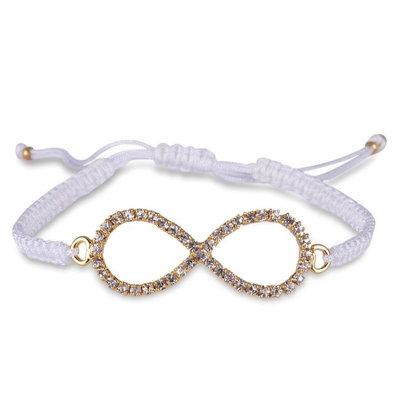 amorium Jewelry White infinity thread bracelet